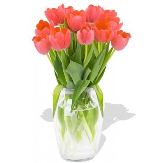 12 Orange Tulips Bouquet